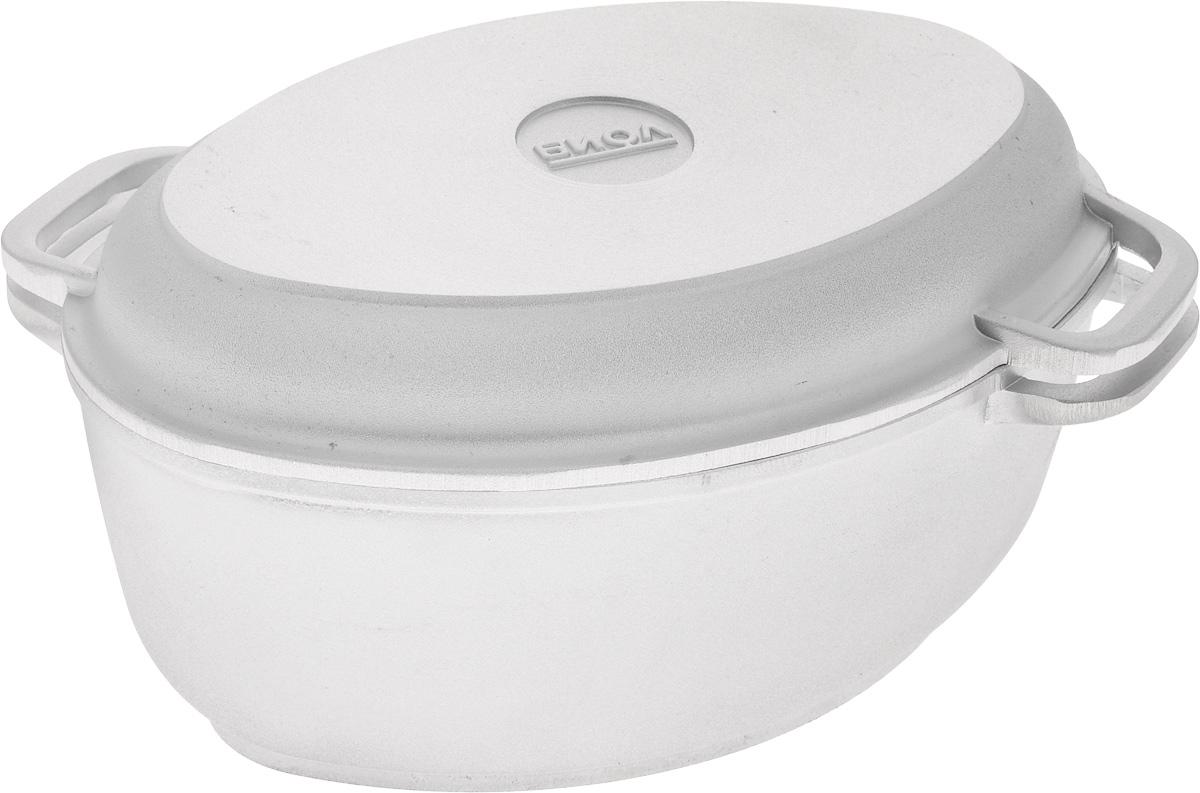 Гусятница Биол с крышкой-сковородой, 2,5 лDA080216Гусятница Биол, выполненная из высококачественного литого алюминия, имеет утолщенное дно и оснащена крышкой. Благодаря особой конструкции корпуса в гусятнице замечательно готовить томленые блюда. Она равномерно прогревается и долго удерживает тепло. Приготовленное блюдо получается особенно вкусным, а в продуктах сохраняется больше полезных веществ. Гусятница не подвержена деформации, легко моется.Крышку гусятницы можно использовать как сковороду.Подходит для газовых, электрических и стеклокерамических плит. Не подходит для индукционных плит. Размер гусятницы (по верхнему краю): 26 х 17,5 см.Высота гусятницы (без учета крышки-сковороды): 10,5 см.Размер крышки-сковороды (по верхнему краю): 26,5 х 17,5 см.Высота крышки-сковороды: 3,5 см.