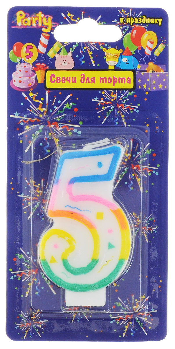 Action! Свеча-цифра для торта 5 лет