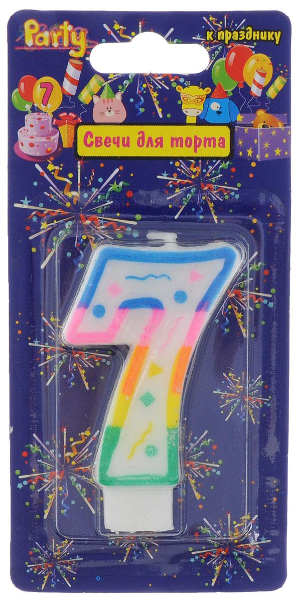 Action! Свеча-цифра для торта 7 лет