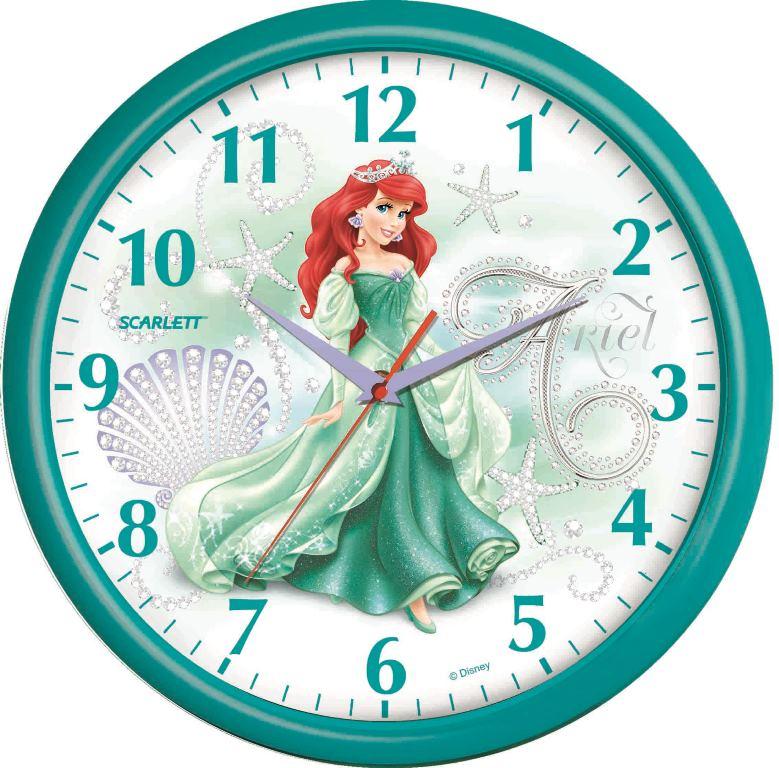 Настенные часы Дисней (Русалочка Ариэль), плавный ход