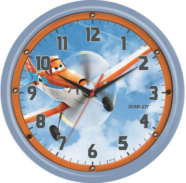 Часы настенные Scarlett, диаметр 29 см. SC - WCD05PL94672Настенные кварцевые часы Scarlett, изготовленные из пластика, прекрасно впишутся в интерьер вашего дома. Круглые часы имеют три стрелки: часовую, минутную и секундную, циферблат защищен прозрачным пластиком. Часы работают от 1 батарейки типа АА напряжением 1,5 В (батарейка в комплект не входит). Часы бренда Scarlett - это надежность, качество и изящность стиля во все времена.Диаметр часов: 29 см.