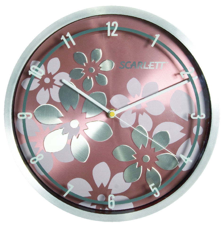 Часы настенные Scarlett, диаметр 30 см. SC - 33BSC - WCD13MНастенные кварцевые часы Scarlett, изготовленные из пластика, прекрасно впишутся в интерьер вашего дома. Круглые часы имеют три стрелки: часовую, минутную и секундную, циферблат защищен прозрачным пластиком. Часы работают от 1 батарейки типа АА напряжением 1,5 В (батарейка в комплект не входит). Диаметр часов: 30 см.