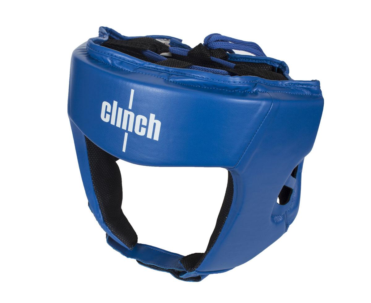 Шлем боксерский Clinch Olimp, цвет: синий. Размер: M (54-58 см)KSC-10044Боксерский шлем Clinch Olimp - официальный лицензионный боксерский шлем Федерацией Бокса России. Шлем изготовлен из высококачественного эластичного полиуретана. Отводящий влагу современный материал, позволяет получить максимальный комфорт, регулировка с помощью липучек и шнуровки плотную фиксацию и обзор. Имеют голографическую наклейку Федерации Бокса России.