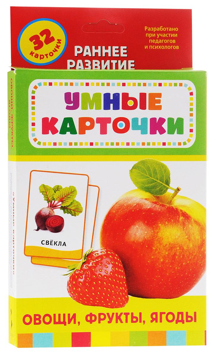 Росмэн Обучающие карточки Овощи фрукты ягоды