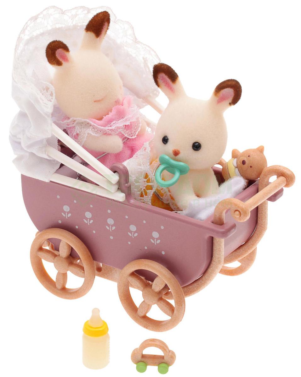 Sylvanian Families Набор фигурок Двойняшки в коляске