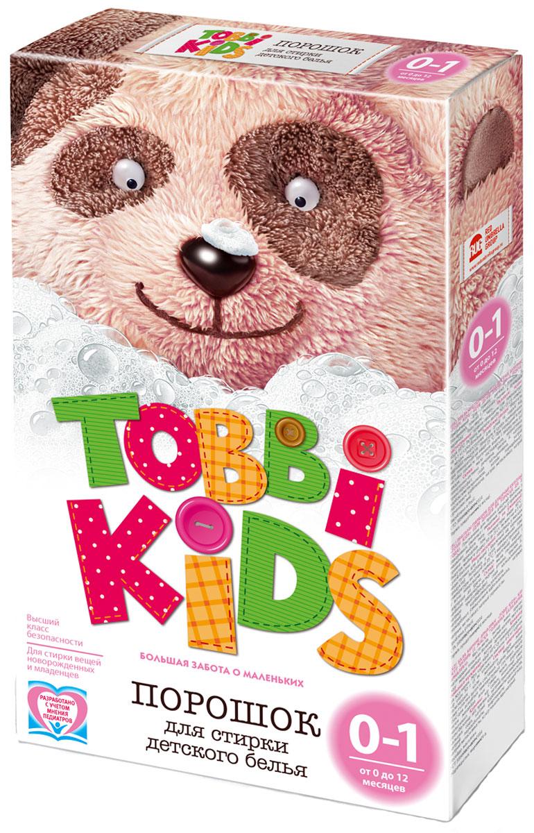 Tobbi Kids Стиральный порошок для детского белья от 0 до 12 месяцев 400 гGC204/30Стиральный порошок для детского белья Tobbi Kids изготовлен из натурального мыла, отлично справляющегося со следами от пюре и соков.Дети в возрасте от 0 до 12 месяцев имеют pH кожи, отличный от pH кожи детей старше года и взрослых, и их иммунная система особенно уязвима, именно поэтому малыши весьма чувствительны к аллергенам и активным веществам в составе стирального порошка. В этот период важно выбирать самые безопасные средства, ведь малышам не подходят взрослые порошки. Формула Tobbi Kids разработана с учетом рекомендаций педиатров, ее pH соответствует pH кожи ребенку до года, а безопасные активные компоненты отлично отстирывают все загрязнения и ухаживают за вещами малыша.Предназначен для стирки детского белья из хлопчатобумажных, льняных и смешанных тканей в стиральных машинах любого типа. Допускается применение для ручной стирки.Состав: мыло хозяйственное, неионогенное поверхностно-активное вещество, натрия перкарбонат, натрий триполифосфат, сода кальцинированная, натрий карбоксиметилцеллюлоза, усилитель отбеливателя, акремон B1, натрий сернокислый.