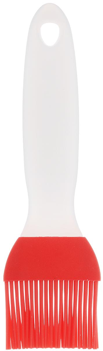 Кисточка кулинарная Elan Gallery, цвет: красный, прозрачный, длина 20 смFS-91909Кисточка кулинарная Elan Gallery изготовлена из высококачественного пищевого силикона, который способен выдержать высокие температуры. Ручка выполнена из пластика и оснащена отверстием, за которое вы сможете подвесить изделие в любое удобное для вас место. Кисточка не царапает поверхность. Щетина не склеивается и не оставляет волосков. Высокая теплоустойчивость силикона позволяет кисточке соприкасаться с нагретыми до высоких температур поверхностями. С помощью такого аксессуара вы сможете равномерно смазать противень или сковороду маслом, нанести глазурь или масло на выпечку. Кулинарная кисточка Elan Gallery станет прекрасным дополнением к коллекции ваших кухонных аксессуаров. Длина кисточки: 20 см. Длина ворсинок: 4 см.