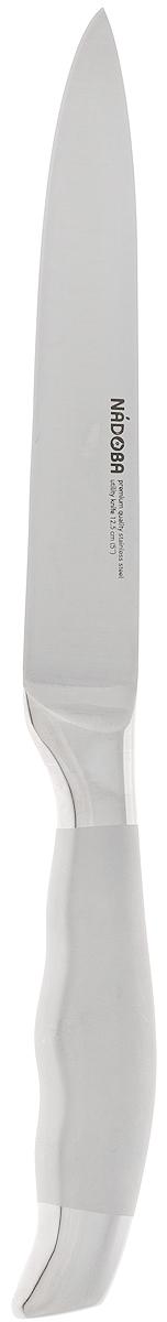 Нож универсальный Nadoba Marta, длина лезвия 12,5 см722813Нож универсальный Nadoba Marta предназначен для резки любых видов продуктов: мяса, овощей и фруктов, хлеба, сыра. Лезвие выполнено из высококачественной нержавеющей стали премиум-класса. Благодаря специальной заточке, лезвие остается острым очень долгое время. Кованая ручка из нержавеющей стали оснащена противоскользящей поверхностью, что обеспечивает дополнительный комфорт во время использования. Изделие можно мыть в посудомоечной машине. Длина лезвия: 12,5 см. Общая длина ножа: 24 см.