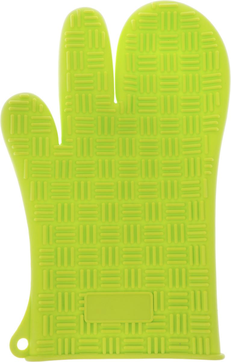 Прихватка-перчатка Mayer & Boch, силиконовая, цвет: салатовый, 27 см х 17 смVT-1520(SR)Прихватка-перчатка Mayer & Boch изготовлена из прочного цветного силикона. Она способна выдерживатьтемпературу от -40°C до +220°С. Эластична, износостойка, влагонепроницаема, легко моется, удобно и прочно сидит на руке. С помощью такой прихватки ваши руки будут защищены от ожогов, когда вы будете ставить в печь или доставать из нее выпечку.Можно мыть в посудомоечной машине.