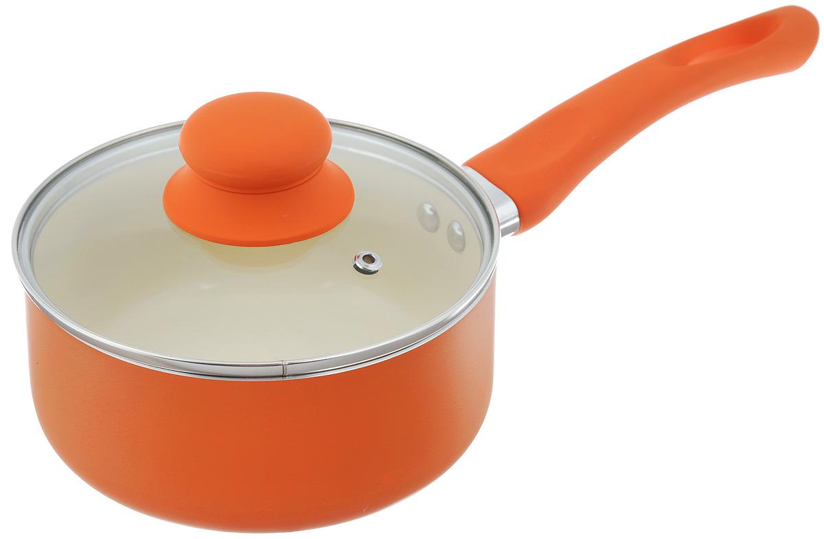 Ковш Mayer & Boch с крышкой, с керамическим покрытием, цвет: оранжевый, 1,5 л94672Ковш Mayer & Boch изготовлен из высококачественногоалюминиевого сплава, который быстро нагревается довысокой температуры и равномерно распределяеттепло по всем поверхностям. Изделие имеетвнутреннее керамическое покрытие, которое обладаетантипригарными свойствами, благодаря этому пища непристает и не пригорает. Ковш оснащен удобнойбакелитовой ручкой с силиконовым покрытием и крышкойиз жаропрочного стекла со стальным ободом и отверстиемдля выхода пара. Такой ковш чрезвычайно устойчив к механическомувоздействию, его легко мыть и хранить. При готовке накерамическом покрытии масла требуется вдвое меньше посравнению с другими покрытиями, что позволяет приготовитьздоровую, вкусную и полезную пищу без лишних жиров иоксидантов.Можно использовать на всех типах плит, кроме индукционных.Можно мыть в посудомоечной машине.Диаметр ковша:16 см.Высота стенки: 7,5 см.Толщина стенки: 2,5 мм.Толщина дна: 2,5 мм.Длина ручки: 17,2 см.
