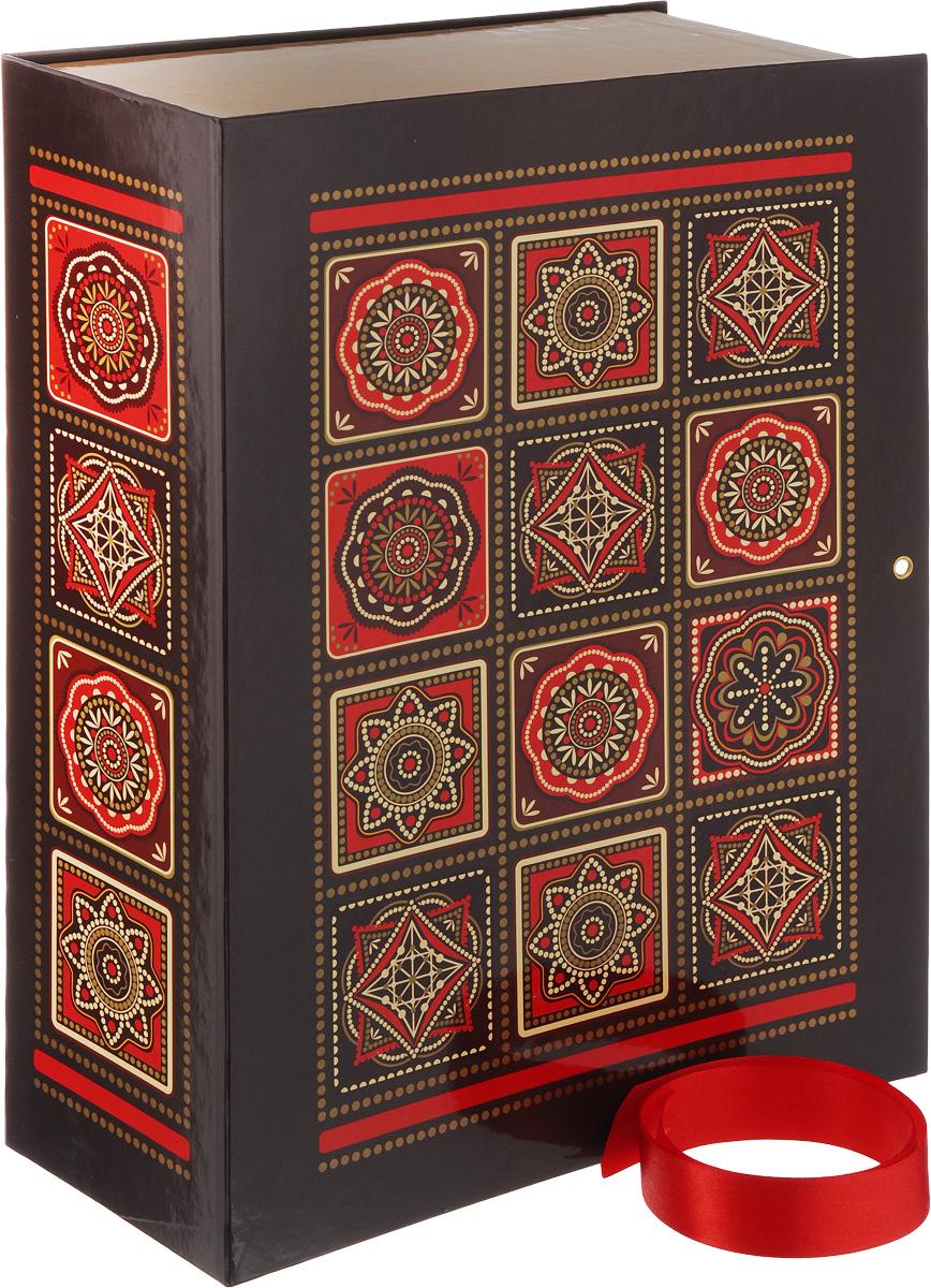 Коробка подарочная Правила Успеха Арабеска, 26 х 36 х 10 см55052Подарочная коробка Правила Успеха Арабеска изготовлена из плотного ламинированного картона. Крышка изделия украшена изысканными узорами в восточном стиле. Такая коробка прекрасно подойдет в качестве подарочной, а также для хранения различных бытовых мелочей. Закрывается с помощью красной атласной ленточки.