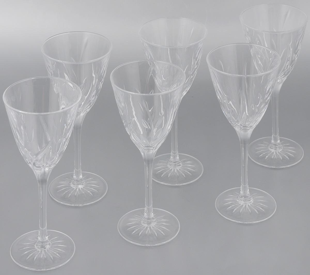 Набор фужеров Cristal dArques Cassandra, 170 мл, 6 штG1416Набор Cristal dArques Cassandra состоит из 6 фужеров, выполненных из специально разработанного стекла Diamax. Изделия оснащены длинными изящными ножками и предназначены для различных напитков.Такой набор прекрасно дополнит праздничный стол и станет желанным подарком в любом доме. Диаметр фужера (по верхнему краю): 7,8 см. Высота фужера: 19 см. Диаметр основания фужера: 6,5 см.