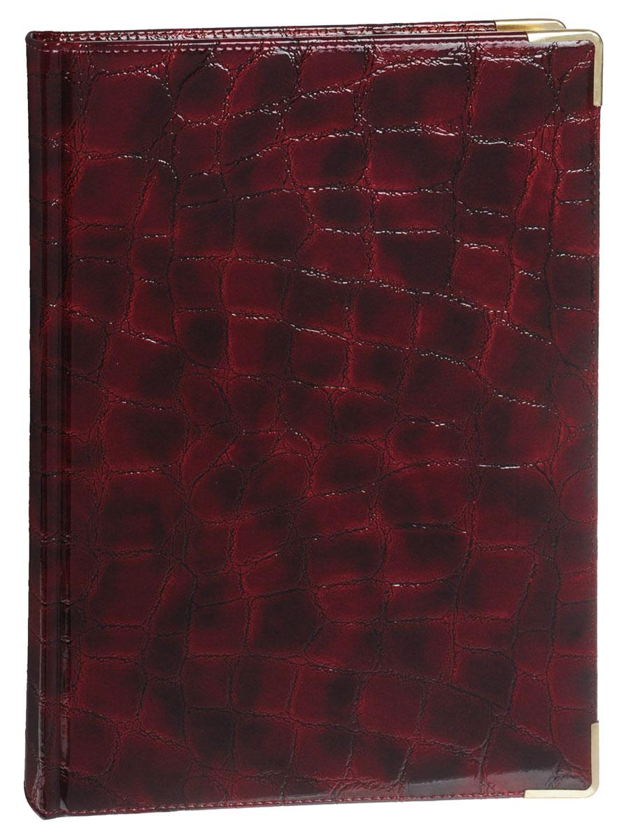 Listoff Книга для записей Grand Croco 160 листов в клетку цвет бордовый72523WDСтильная книга для записей - это дополнительный штрих к вашему имиджу. Опрятная и лаконичная книжка может быть использована не только для личных пометок и записей, но и как недатированный ежедневник.Обложка выполнена из высококачественной искусственной кожи, с прострочкой по периметру и поролоновой подкладкой. Металлические скругленные углы защищают книгу от повреждений при активном использовании. Форзацы золотого цвета и ляссе подчеркивают высокий статус изделия.Записная книжка Listoff станет достойным аксессуаром среди ваших канцелярских принадлежностей. Она пригодится как для деловых людей, так и для любителей записывать свои мысли, писать мемуары или делать наброски новых стихотворений.