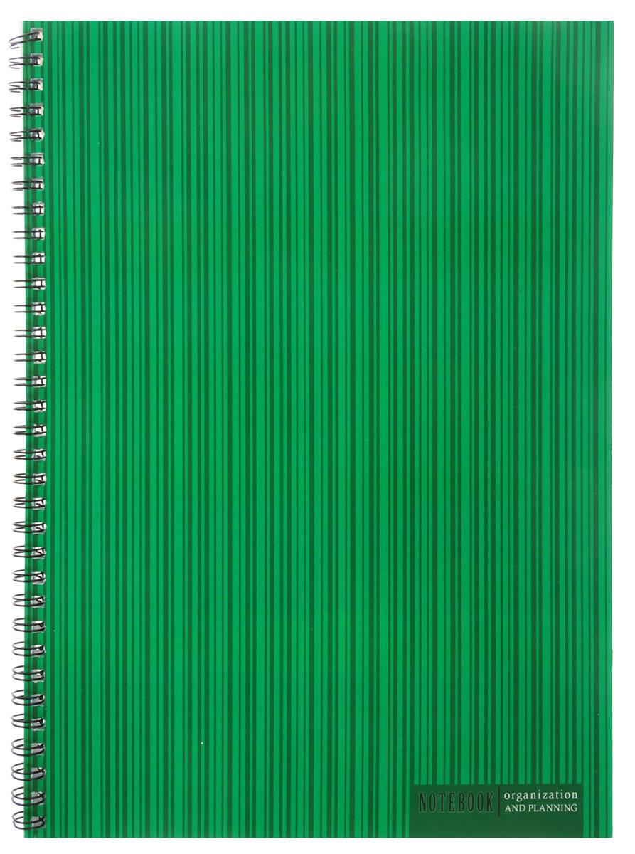 Listoff Тетрадь Оттенки зеленого 60 листов в клетку72523WDТетрадь Listoff подойдет как школьнику, так и студенту. Обложка выполнена из картона и оформлена оригинальным изображением полосок на зеленом фоне. Такая обложка подчеркнет вашу индивидуальность. Внутренний блок состоит из 60 листов белой бумаги. Стандартная линовка в голубую клетку без полей. Листы тетради соединены металлическим гребнем.