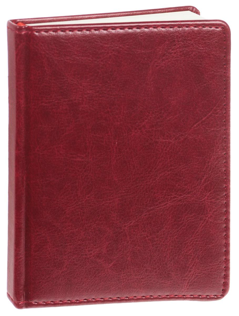 Listoff Записная книжка 96 листов в клетку цвет бордовый1150-142Записная книжка Listoff - незаменимый атрибут современного человека, необходимый для рабочих и повседневных записей в офисе и дома. Записная книжка содержит 96 листов формата А6 в клетку. Обложка выполнена из искусственной кожи и прошита по периметру нитками. Внутренний блок изготовлен из высококачественной плотной состаренной бумаги, что гарантирует чистоту записей и отсутствие клякс. Атласное ляссе поможет быстро найти нужную страницу.Записная книжка Listoff станет достойным аксессуаром среди ваших канцелярских принадлежностей. Она подойдет как для деловых людей, так и для любителей записывать свои мысли, рисовать скетчи, делать наброски.