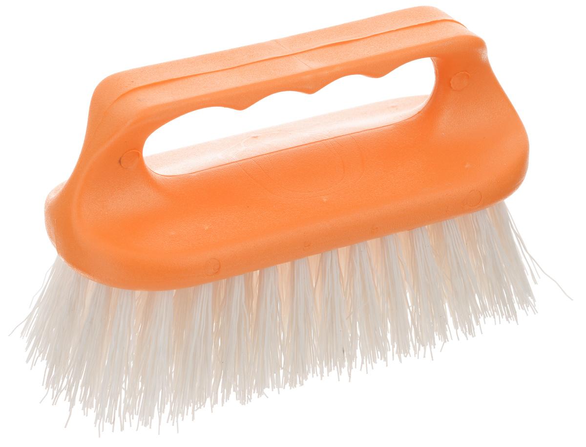 Щетка для одежды Хозяюшка Мила Лилия, цвет: белый, оранжевыйNTS-101C blueЩетка Хозяюшка Мила Лилия, изготовленная из высокопрочного пластика, предназначена для удаления различных загрязнений с одежды, а также для нанесения пятновыводителя перед стиркой. Щетина средней жесткости не повреждает поверхность. Длина щетины: 3,7 см.