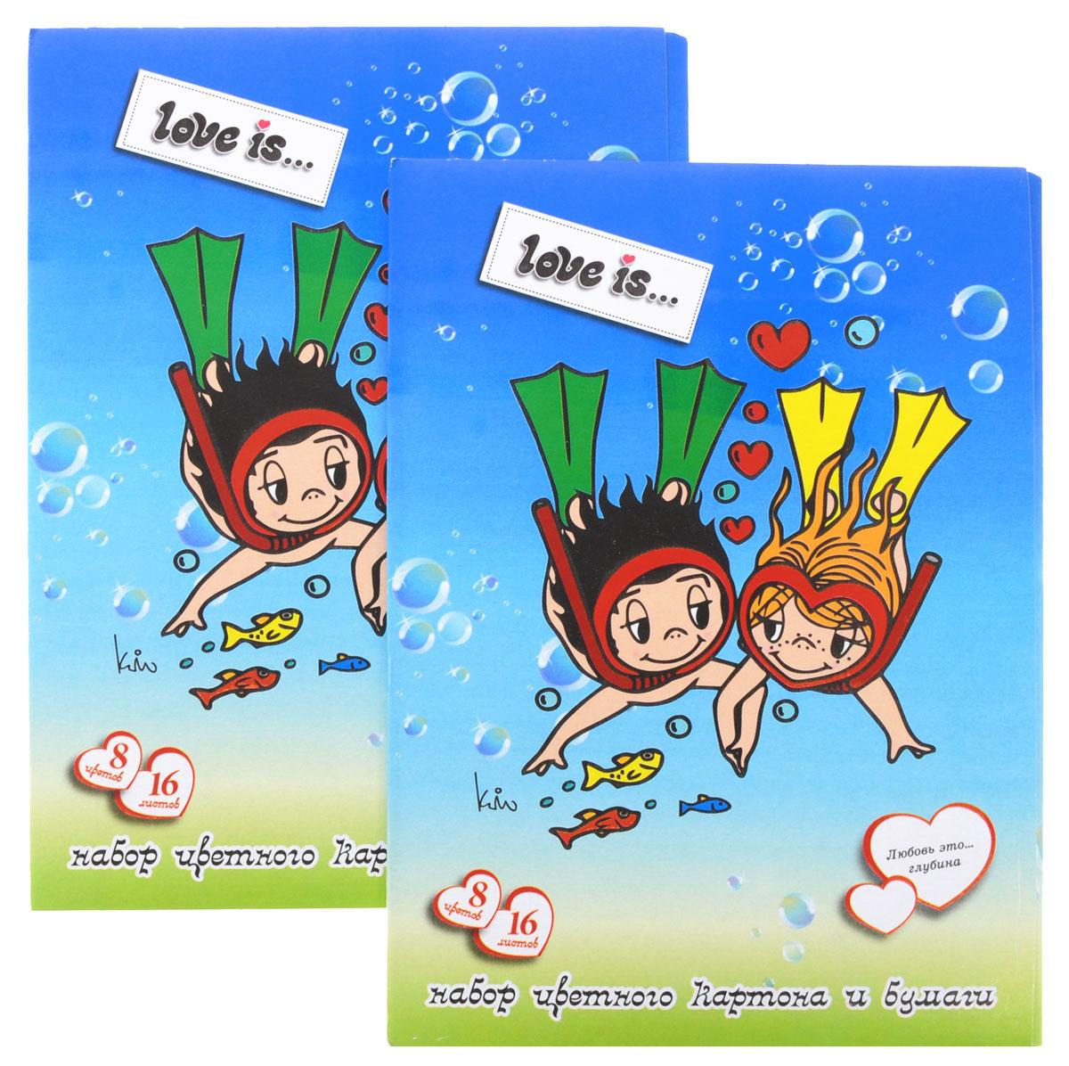 Action! Набор цветного картона и бумаги Love is... 16 листов 2 шт цвет голубой72523WDНабор цветного картона и бумаги Action! Love is... позволит вашему ребенку создавать всевозможные аппликации и поделки. Набор содержит 8 листов цветного картона и 8 листов цветной бумаги формата А4. Листы упакованы в оригинальную картонную папку, оформленную в тематике Love is.... Создание поделок из бумаги и картона поможет ребенку в развитии творческих способностей, кроме того, это увлекательный досуг.В комплекте 2 набора по 16 листов.