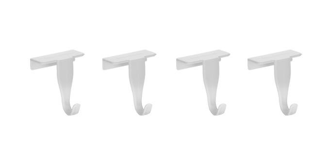 Крючки на дверцы кухонных шкафов Tescoma Presto, 4 штВетерок-2 У_6 поддоновКрючки Tescoma Presto выполнены из прочного пластика и предназначены для размещения на дверцах кухонных шкафов. На крючки удобно вешать полотенца, прихватки или кухонные принадлежности. В комплект входят 4 крючка. Размер крючков: 4,5 х 4 х 6 см.