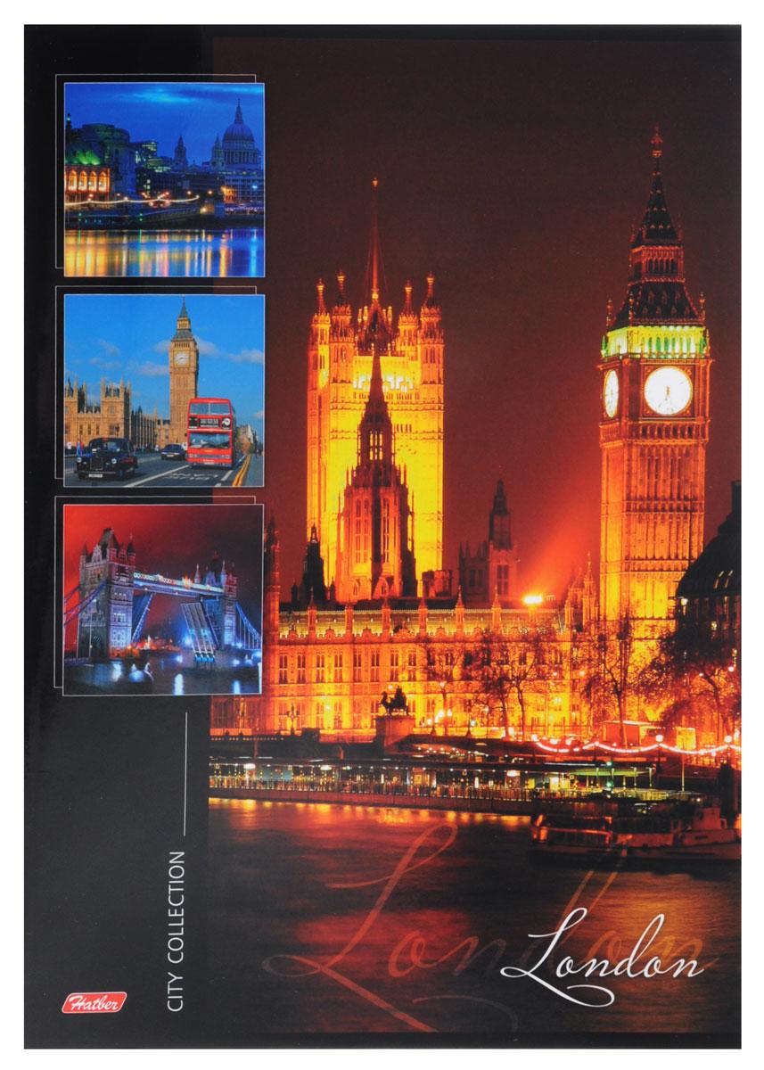 Hatber Тетрадь London 96 листов в линейку72523WDТетрадь Hatber London отлично подойдет для занятий как школьнику, так и студенту.Стильная обложка с изображением лондонских достопримечательностей, выполненная из ламинированного картона, позволит сохранить тетрадь в аккуратном состоянии на протяжении всего времени использования.Внутренний блок тетради состоит из 96 листов белой бумаги в голубую линейку без полей.