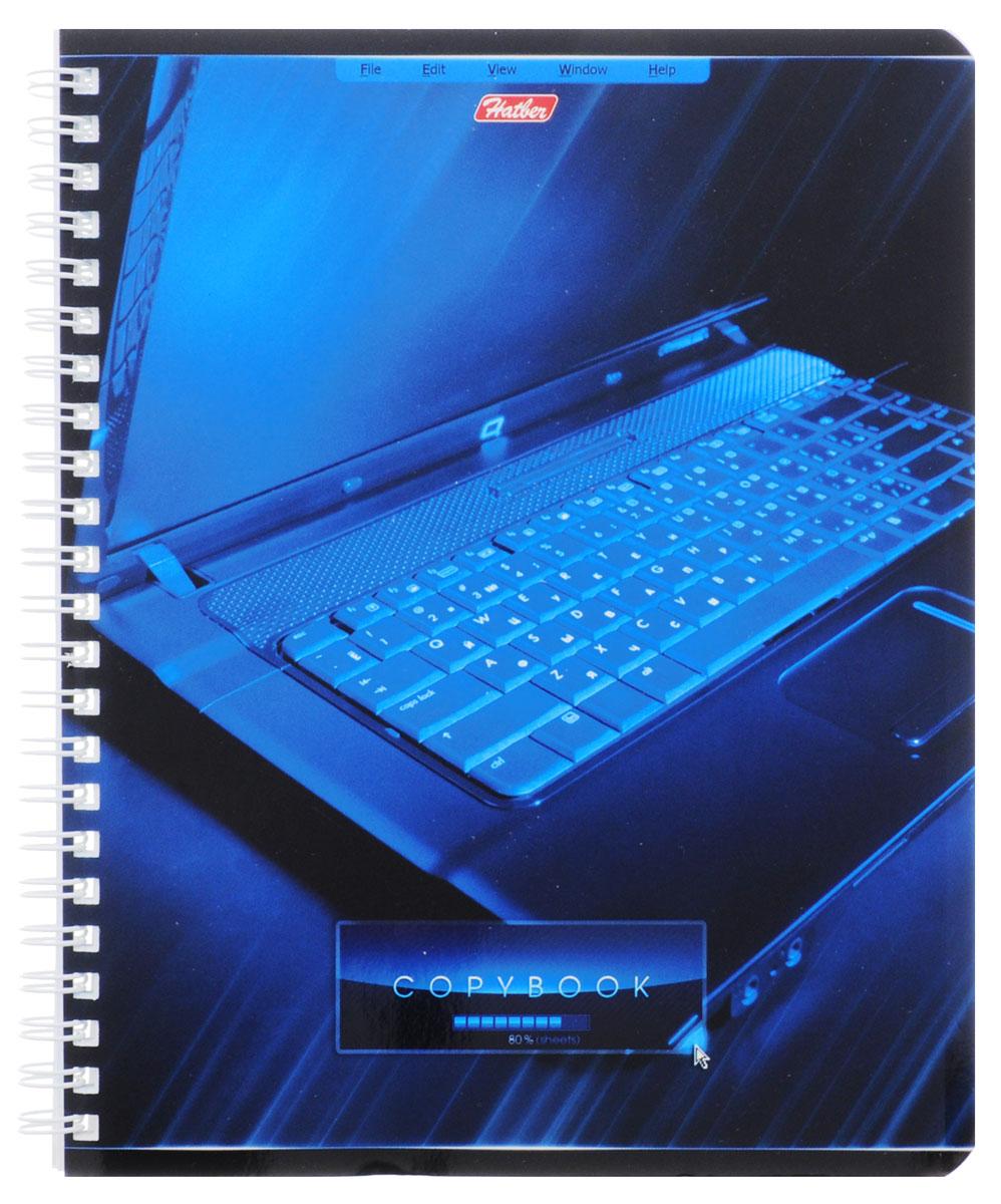 Hatber Тетрадь Офис 80 листов в клетку цвет синийПБФ1204209Тетрадь Hatber Офис подойдет как школьнику, так и студенту.Обложка тетради выполнена из картона и оформлена оригинальным изображением. Внутренний блок состоит из 80 листов белой бумаги. Стандартная линовка в голубую клетку без полей. Листы тетради соединены металлическим гребнем.