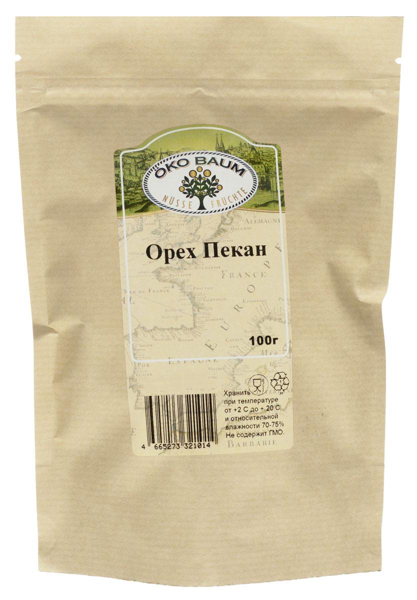 Oko Baum орех пекан, 100 г10.52.25Орех пекан от Oko Baum – не просто превосходный заменитель животного белка, в нем намного больше полезных питательных веществ, в том числе антиоксидантов. А ненасыщенные жирные кислоты (моно- и поли-) делают этот экзотический орешек идеальным продуктом питания для сердечников.Орехи пекан – настоящая кладовая энергии. В 100 г спрятано 690 калорий! Кроме того, эти нежные, отличающиеся сливочным вкусом и маслянистой текстурой орешки содержат много витаминов, минеральных веществ и натуральных антиоксидантов. В минеральный профиль продукта входят: селен и цинк, магний и железо, кальций и калий, а также марганец. Среди витаминов фаворитами следует признать витамин E и витамины B - комплекса. В одной горстке орехов пекан (28 г) содержится 2% дневной нормы жирорастворимого витамина E, который хорошо себя зарекомендовал в борьбе с негативным влиянием загрязненной среды и солнечного излучения. А еще он значительно снижает риск вирусных инфекций.