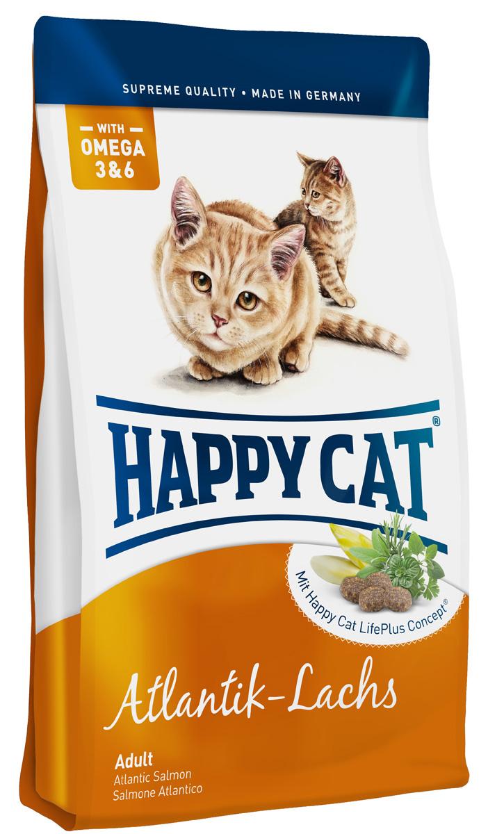 Happy Cat Adult Атлантический лосось для кошек с чувствительным пищеварением 1,8кг70122Активный обмен веществ - предпосылка для здоровой и активной жизни кошки. Fit & Well Adult атлантический лосось содержит легкоусвояемые протеиныценного лосося, кролика и птицы, не дающие лишней нагрузки пищеварительной системе.Минеральные вещества: Сырой протеин 32%, сырой жир 18%, сырая клетчатка 2.5%, сырая зола 6.5%, кальций 1.25%, фосфор 0.85%, натрий 0.45%, калий 0.5%, магний 0.08%, Омега-6 жирных кислот 2.8%, Омега-3жирных кислот 0.25.% Состав: Лосось (11%), птица (11%), кукурузная мука, рисовая мука, кукуруза, картофельные хлопья, мясопродукты, птичий жир, говяжий жир, гидролизат печени, гемоглобин, свекольная пульпа, печень, яблочная пульпа (0,7%), цельный яичный порошок, хлорид натрия, дрожжи (сухие), хлорид калия, ячмень (ферментированный, 0,3%), морские водоросли (0,2%), семя льна (0,2%), корень цикория (0,04%), артишок, одуванчик, имбирь, березовый лист, крапива, шалфей, кориандр, розмарин, тимьян, корень солодки, ромашка, таволга, черемша (Общий объем трав: 0,17%).