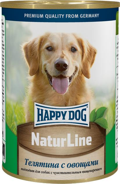 Консервы для собак Happy Dog Natur, с телятиной и овощами, 400 г57852Консервы для собак Happy Dog Natur с телятиной и овощами обладают исключительным вкусом, не менее привлекательным для животного, чем 100% мясной рацион. К тому же наличие в составе овощей положительно скажется на состоянии иммунной системы и работе желудочно-кишечного тракта, поэтому такие консервы являются максимально полезным влажным рационом, который можно давать животному каждый день. Консервы для собак Happy Dog Natur с телятиной и овощами полностью соответствуют естественным потребностям взрослых собак вне зависимости от их принадлежности к породе. Это максимально натуральные консервы, для приготовления которых не использовалась соя, искусственные красители и консерванты. В основе консервов находится отборная телятина. Питательная ценность и полезность телятины для организма обусловлена ее богатым витаминно-минеральным составом и насыщенностью качественным протеином. Телятина хорошо усваивается и, благодаря наличию в мясе теленка экстрактивных веществ, способствует более сильному выделению желудочного сока, необходимого для переваривания пищи. Железо и медь необходимы для образования гемоглобина и повышения сопротивляемости организма бактериям. В том числе медь участвует в образовании коллагена и эластина, необходимых для повышения прочности и эластичности тканей. Фосфор и магний необходимы для формирования крепкого скелета. Цинк ускоряет процесс заживления ран и является эффективным средством лечения и профилактики дерматоза. Калий регулирует деятельность центральной нервной системы и отвечает за сокращаемость мышечной массы. Витамины B отвечают за протекающие в организме обменные процессы, а антиоксиданты препятствуют разрушению клеток свободными радикалами. Овощи содержат клетчатку, которая отсутствует в мясных ингредиентах, но необходима для нормальной работы пищеварительной системы и очищения организма от шлаков и токсинов.Состав: телятина, овощи, витаминно-минеральная комплекс, растител