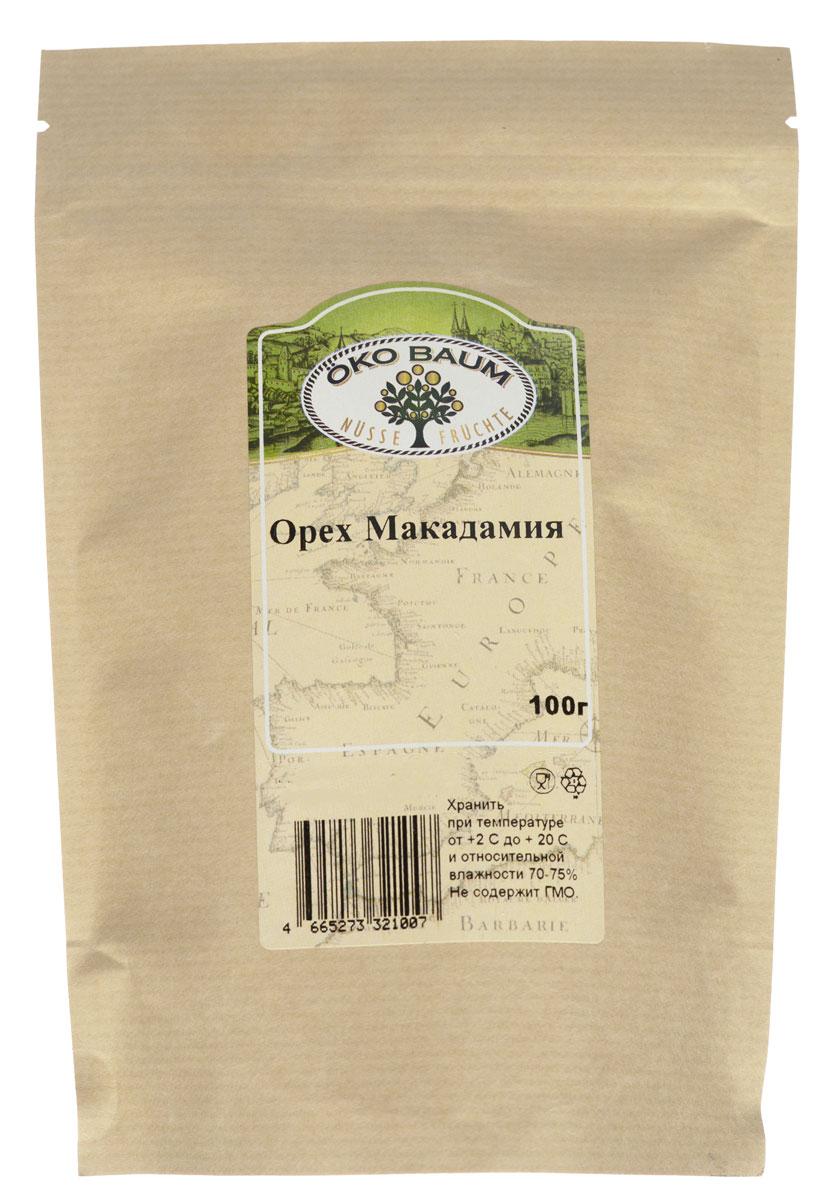 Oko Baum макадамия, 100 г0120710В ореховом царстве есть свой король. Имя ему макадамия, а родом Его Величество из Австралии. На сегодняшний день макадамия – самое дорогое ореховое лакомство в мире. Дороговизна австралийского ореха определяется тем, что его очень мало выращивают.Макадамия Oko Baum – кладезь ценных питательных веществ. Этот орех помогает выводить из организма холестерин, он является источником кальция и других минеральных веществ. В нем мало углеводов, зато относительно много жиров. По мнению ученых, регулярное употребление в пищу целебных орехов понижает риск возникновения сердечно - сосудистых заболеваний, некоторых видов рака и даже способствует потере лишнего веса. Удивительно, но орехи макадамии, очень полезные для людей, почему-то не переносят собаки: макадамия для них ядовита.