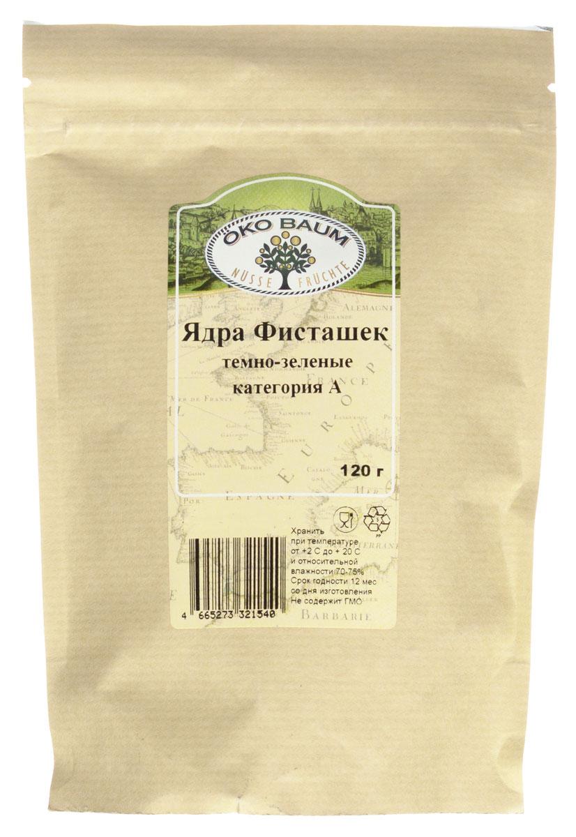 Oko Baum ядра фисташек темно-зеленые категория А, 120 г0120710Знакомьтесь, орехи счастья (именно так их называют в Китае) – плоды древа жизни, а попросту – фисташки!Фисташковые орехи служат верой и правдой человеку вот уже более 2,5 тысяч лет. Они ценятся на востоке и во всем мире как продукт, оказывающий тонизирующее действие. Эти орехи рекомендуют принимать при хронической усталости. В каждом маленьком орешке содержатся медь, марганец, фосфор, калий и магний. По содержанию витамина В6 этот продукт может поспорить даже с говяжьей печенью, а всего 30 орехов содержат столько же клетчатки, сколько находится в целой порции овсяной каши. Благодаря содержанию витамина Е, фисташковые орехи оказывают омолаживающее действие на организм. Фисташки показаны к употреблению людям, имеющим проблемы с сердцем и сосудами. Также полезны эти орехи при заболеваниях печени и дыхательных путей. В качестве дополнительной помощи они включаются в рацион больных гепатитом и малокровием.