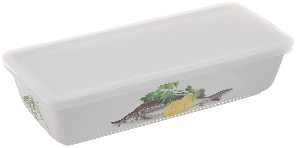 Блюдо для холодца Elan Gallery Осетр, с крышкой, 1 лVT-1520(SR)Блюдо для холодца Elan Gallery Осетр, изготовленное из высококачественной керамики, предназначено для приготовления и хранения заливного или холодца. Пластиковая крышка, входящая в комплект, сохранит свежесть вашего блюда. Также блюдо можно использовать для приготовления и хранения салатов. Оформлено изделие оригинальным рисунком. Такое блюдо украсит сервировку вашего стола и подчеркнет прекрасный вкус хозяйки.Не использовать в микроволновой печи. Размер блюда: 28 х 13 х 6,5 см.