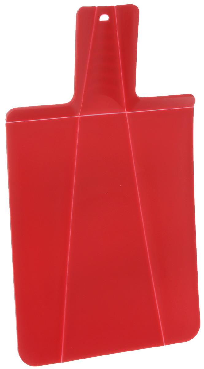 Доска разделочная Mayer & Boch, складная, цвет: красный, 21 х 37 см391602Разделочная доска Mayer & Boch изготовлена из высококачественного полипропилена.Умный дизайн рукоятки позволяет с легкостью складывать, а также разворачивать доску. Присжатии ручки края доски складываются, образуя форму лотка. Это позволяет с легкостью ибыстротой переносить нарезанные продукты. Такая доска не помнется, не сломается и не пойдеттрещинами. Компактная доска Mayer & Boch прекрасно подойдет даже для небольшой поверхности стола ине займет много места при хранении.