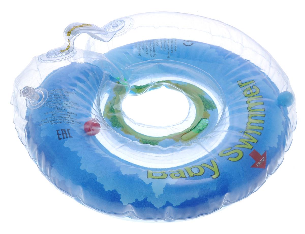 Baby Swimmer Круг на шею Солнечный остров с погремушкой 6-36 кг -  Круги для купания