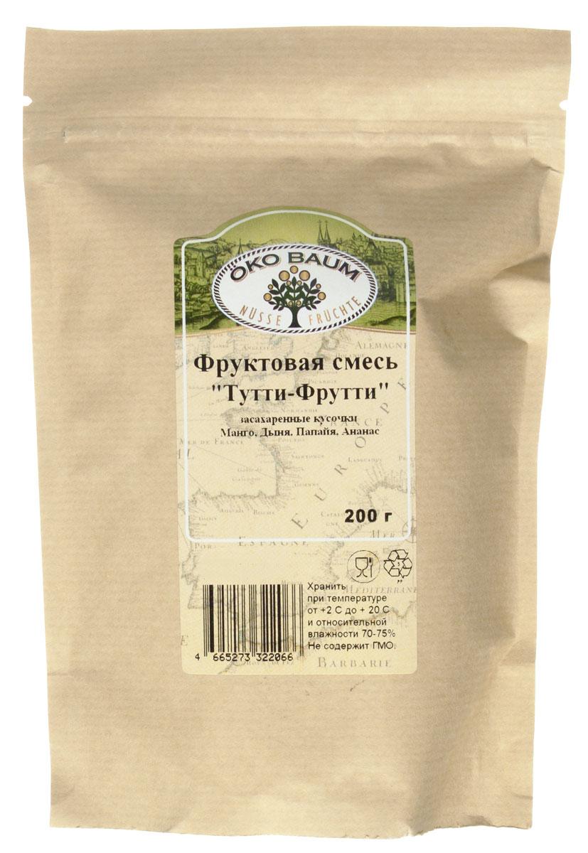 Oko Baum Тутти-Фрутти смесь цукатов, 200 г7000220000Засахаренные кусочки манго, дыни, папайи и ананаса - чудесное и вкусное лакомство для взрослых и детей! Можно добавлять в каши, мороженное, йогурты. Также отлично подходит для домашней выпечки.