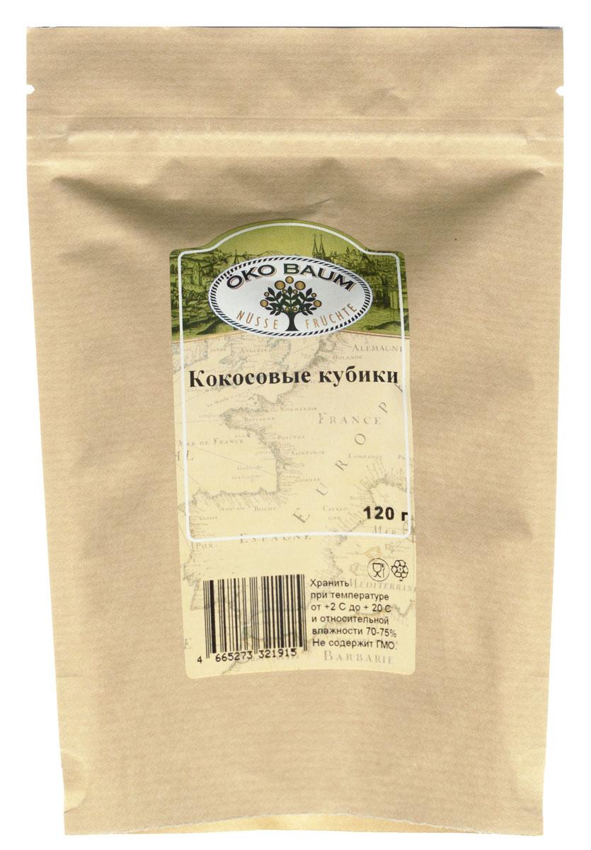 Oko Baum кокосовые кубики, 120 г0120710Кокосовый орех обладает лекарственными и лечебными свойствами. Он содержит витамины B и C, а также необходимые человеческому организму минеральные соли, натрий, кальций, железо, калий, а также до 5% глюкозы, фруктозы и сахарозы. Лауриновая кислота (она же является основной жирной кислотой в грудном молоке), содержащаяся в кокосе, стабилизирует холестерин в крови. Таким образом, снижается риск возникновения атеросклероза и сердечно-сосудистых заболеваний.