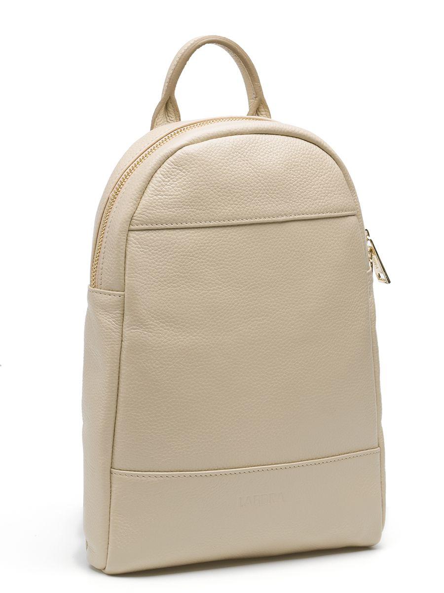 Рюкзак женский Labbra, цвет: бежевый. L-942771069с-2Оригинальный рюкзак Labbra выполнен из натуральной кожи с зернистой фактурой, декорирован золотистой фурнитурой,декоративной прострочкой и тиснением в виде символики бренда. Рюкзак имеет вместительное основное отделение, которое закрывается на застежку-молнию, и вертикальный прорезной карман на молнии с тыльной стороны изделия. Внутри имеется прорезной карман на застежке-молнии и один накладной карман для телефона и мелочей. Изделие оснащено удобной ручкой для переноски и практичными лямками из натуральной кожи, которые регулируются по длине и могут быть соединены в одну посредством молнии. Прилагается фирменный текстильный чехол для хранения.Рюкзак Labbra - это выбор молодой, уверенной, стильной женщины, которая ценит качество и комфорт. Изделие станет изысканным дополнением к вашему образу.