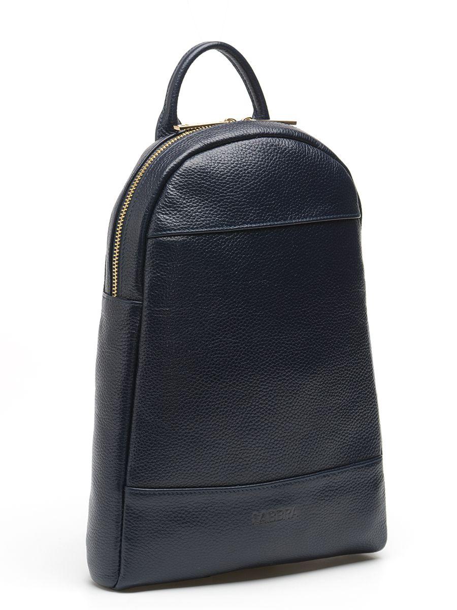 Рюкзак женский Labbra, цвет: темно-синий. L-9427S76245Оригинальный рюкзак Labbra выполнен из натуральной кожи с зернистой фактурой, декорирован золотистой фурнитурой,декоративной прострочкой и тиснением в виде символики бренда. Рюкзак имеет вместительное основное отделение, которое закрывается на застежку-молнию, и вертикальный прорезной карман на молнии с тыльной стороны изделия. Внутри имеется прорезной карман на застежке-молнии и один накладной карман для телефона и мелочей. Изделие оснащено удобной ручкой для переноски и практичными лямками из натуральной кожи, которые регулируются по длине и могут быть соединены в одну посредством молнии. Прилагается фирменный текстильный чехол для хранения.Рюкзак Labbra - это выбор молодой, уверенной, стильной женщины, которая ценит качество и комфорт. Изделие станет изысканным дополнением к вашему образу.