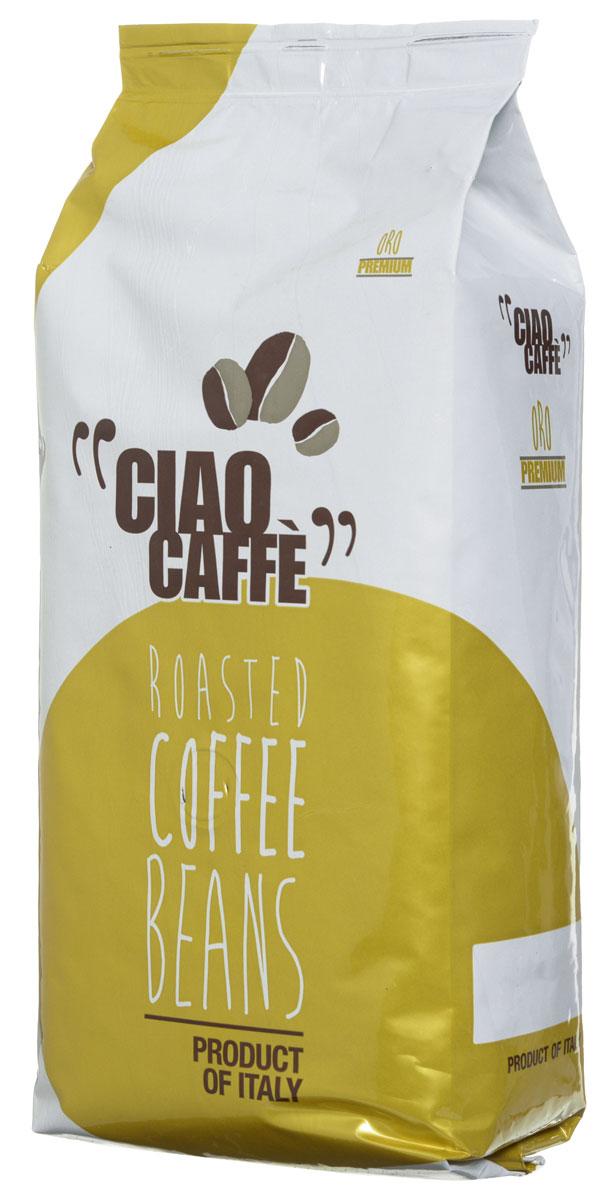 Ciao Caffe Oro Premium кофе в зернах, 1 кг0120710Ciao Caffe Oro Premium - великолепная и утонченная смесь лучших зерен ароматной арабики. Этот изысканный напиток имеет мягкий устойчивый вкус.
