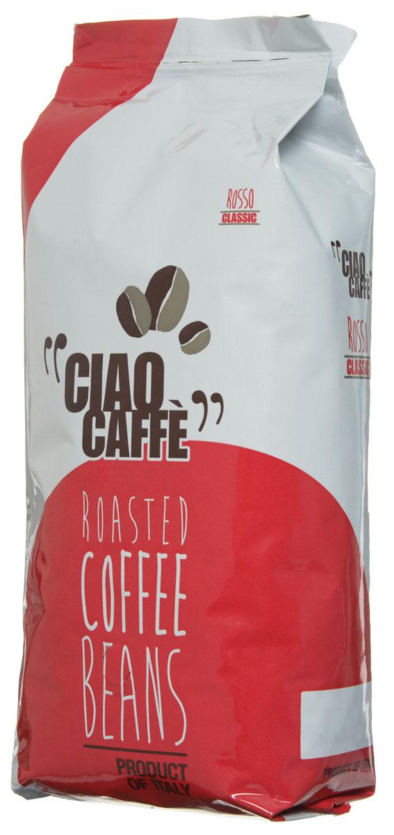 Ciao Caffe Rosso Classic кофе в зернах, 1 кг0120710Ciao Caffe Rosso Classic - традиционная итальянская смесь Арабики и Робусты. Этот изысканный напиток имеет интенсивный и полный устойчивый вкус. Средняя обжарка.