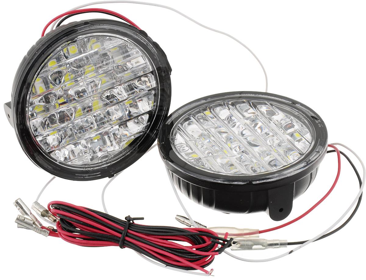 Дневные ходовые огни DLED DRL- 73, 2 шт3143Дневные ходовые огни DLED DRL- 73 используется в автомобилях. Яркость в 460 кандел обеспечивают 18 светодиодов SMD5050, установленных в блок-фаре ДХО. Каждый светодиод находится в индивидуальном отражателе, что повышает видимость автомобиля в потоке. В ходовых огнях уже есть встроенное реле, обеспечивающее правильную работу ходовых огней согласно требованиям правил дорожного движения.Общая яркость: 460 кд.Тип светодиода: SMD5050.Угол света: 100°.Блок-фара состоит из 18 светодиодов SMD5050.Количество светодиодов: 18.Цоколь: передний бампер.Мощность: 4,32 Вт.Питание: 12 В.Цветовая палитра: белый.