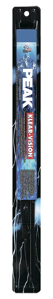 Щетка стеклоочистителя Peak Klear-Vision, каркасная, 38 см, 1 шт7060002Щетка стеклоочистителя Peak Klear-Vision имеет традиционную каркасную конструкцию. Совместима со стандартным поводками типа hook (крючок), Side pin (боковой штырь) и Bayonet arm, благодаря чему ее легко устанавливать. Увеличенный размер чистящей поверхности позволяет более тщательно очищать поверхность стекла. Несколько точек давления обеспечивают равномерное прилегание к стеклу. Каркас из нержавеющей стали, шлиц и клепки обеспечивают высокие эксплуатационные характеристики.