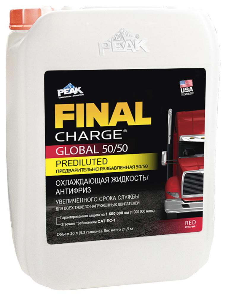 Антифриз FINAL CHARGE 50/50, готовый, цвет: красный G12; 20 л