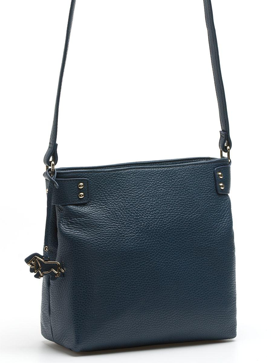 Сумка женская Labbra, цвет: синий. L-XKB811KV996OPY/MПрактичная и изящная сумка Labbra выполнена из натуральной кожи с зернистой фактурой, дополнена золотистой фурнитурой и подвеской в виде символики бренда Сумка закрывается на молнию, внутри имеет два вместительных отделения на застежке-молнии, два накладных кармана и один вшитый карман на молнии. На внешней стороне находится прорезной карман на застежке-молнии. Изделие комплектуется удобным плечевым ремнем. br>Роскошная сумка Labbra - это выбор молодой, уверенной, стильной женщины, которая ценит качество и комфорт. Изделие станет изысканным дополнением к вашему образу.