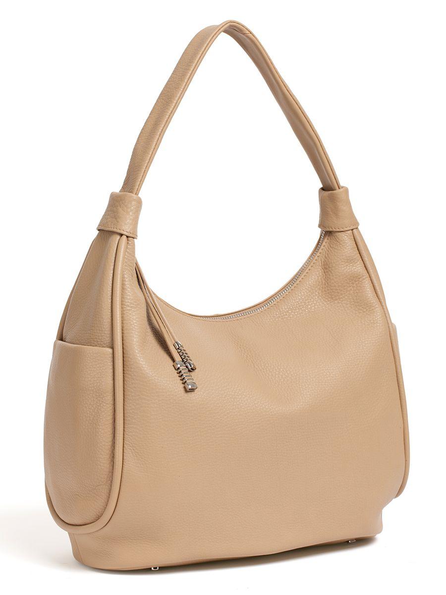 Сумка женская Palio, цвет: бежевый. 14512A1A-B86-05-CСтильная женская сумка Palio выполнена из натуральной кожи. Изделие имеет одно отделение, закрывающееся на застежку-молнию. Внутри сумки находятся два накладных открытых кармана и прорезной карман на застежке-молнии. Снаружи, на задней стенке расположен прорезной карман на застежке-молнии, по бокам - накладные карманы на магнитных кнопках. Сумка оснащена одной удобной ручкой. Основание изделия защищено от повреждений металлическими ножками.