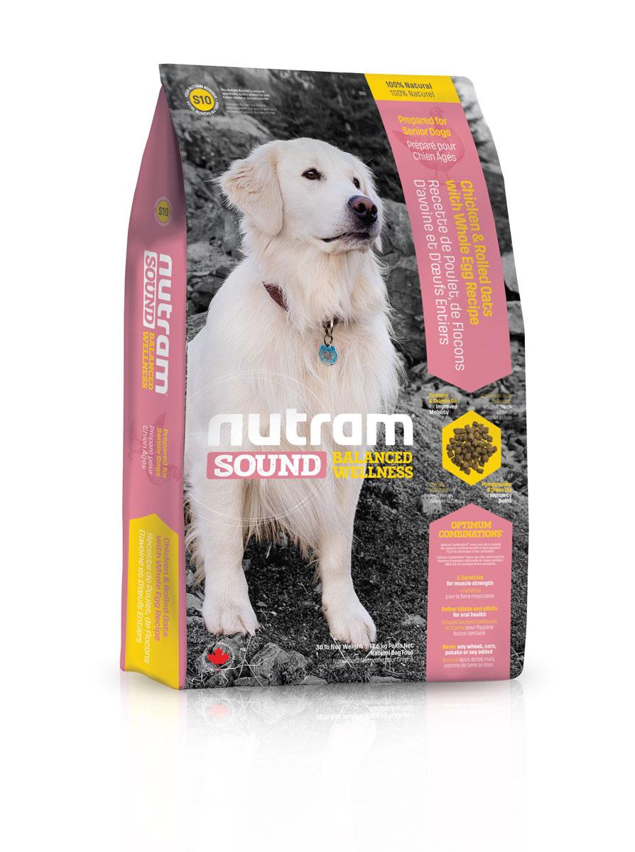 Корм сухой Nutram Sound Senior Dog, для пожилых собак, 2,72 кг11163_дизайн 2Целостный (holistic), полезный, богатый питательными веществами сухой корм Nutram Sound Senior Dog для собак, который улучшает самочувствие и здоровье питомцев по принципу изнутри наружу. Подход к целостному питанию начинается с улучшения подвижности. Оптимальное сочетание жира лососевых рыб, богатых Омега- 3 жирными кислотами, и куркумы, источника куркумина, которые обладают противовоспалительными свойствами, положительно влияют на подвижность суставов. L-карнитин, уменьшая жировые отложения иподдерживая мышцы в тонусе, также помогает сохранить активность. Крепкий иммунитет является залогом хорошего здоровья пожилых собак. Гранат и зеленый чай обладают отличными антиоксидантными свойствами, которые усиливают естественные защитные силы организма.Корм для собак содержит мясо курицы, овсяные хлопья и цельные яйцаL-карнитин поддерживает мышечную массу в тонусеБолее мягкие гранулы корма, которые легче разгрызать пожилым собакам и люцерна для свежего дыханияНе содержит пшеницу, кукурузу, картофель или сою в любом виде.Гарантированный анализ: протеин 22,5%, жир 12%, клетчатка 5%, вода 10%, зола 7%, кальций 0,8%, фосфор 0,65%, омега-3 0,85%, омега-6 1,7%.Содержание калорий: МЕ (расчетное содержание метаболической энергии) 3695 ккал/кг (390 ккал/стакан).Товар сертифицирован.