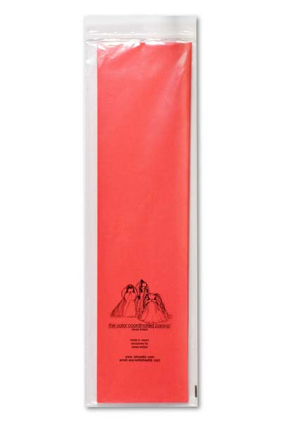 Бумага натуральная Lainee, цвет: красная, 100 листов102Lainee (Лайни) бумага натуральная для папильоток.Натуральная рисовая бумага высшего качества. Очень тонкая, очень прочная.Прекрасно подходит для накручивания папильоток на корпусе и на голове собаки.Размер листа 39х10 см, в упаковке 100 листов. Цвет белый. С помощью папильоток осуществляется защита длинного остевого волоса от сечения и механического повреждения у длиношерстных декоративных пород собак.