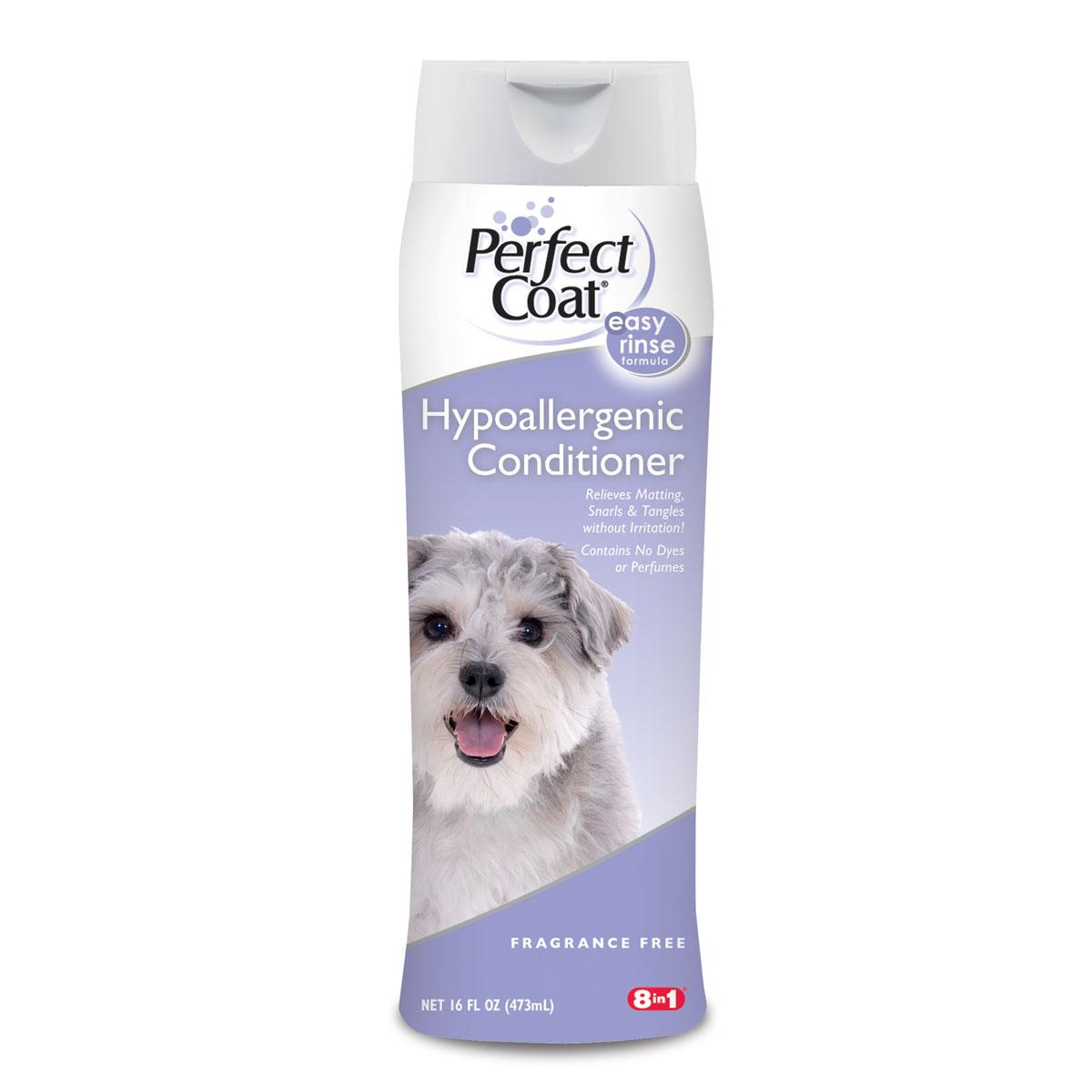 Кондиционер-ополаскиватель для собак 8 in1 Hypoallergenic, гипоаллергенный, 473 мл1827184Гипоаллергенный кондиционер-ополаскиватель для собак 8 in1 Hypoallergenic не содержит ароматизаторов и включает технологию Aller-Free, денатурирующую белки, вызывающие аллергию. Кондиционер нейтрализует перхоть и другие раздражающие факторы, не нарушая чувствительности кожи. Обогащен алоэ-вера для придания шерсти мягкости и блеска. Легкосмываемая формула не содержит избыточных масел.Товар сертифицирован.