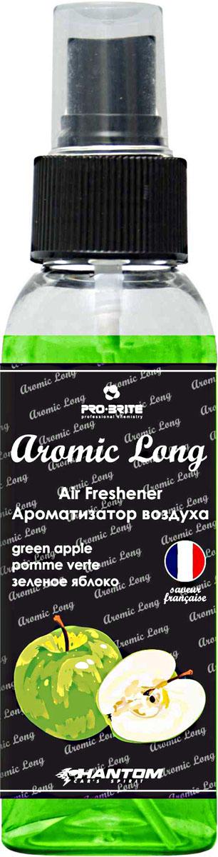 Ароматизатор воздуха автомобильный Phantom Aromic Long, зеленое яблоко, спрей 100 мл3204_ белый, оранжевый, черныйАроматизатор воздуха на основе натуральных отдушек с насыщенным ароматом. Применим в любых помещениях и салонах автомобилей. Нейтрализует неприятные запахи и придает воздуху свежесть.