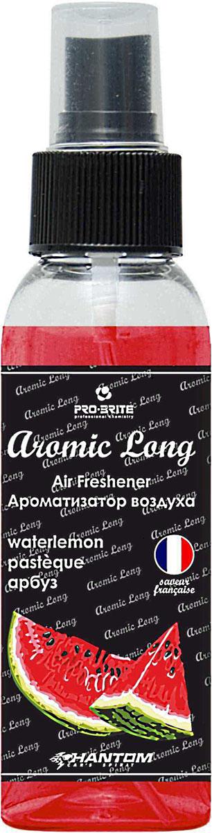 Ароматизатор воздуха автомобильный Phantom Aromic Long, арбуз, спрей 100 мл221000Ароматизатор воздуха на основе натуральных отдушек с насыщенным ароматом. Применим в любых помещениях и салонах автомобилей. Нейтрализует неприятные запахи и придает воздуху свежесть.