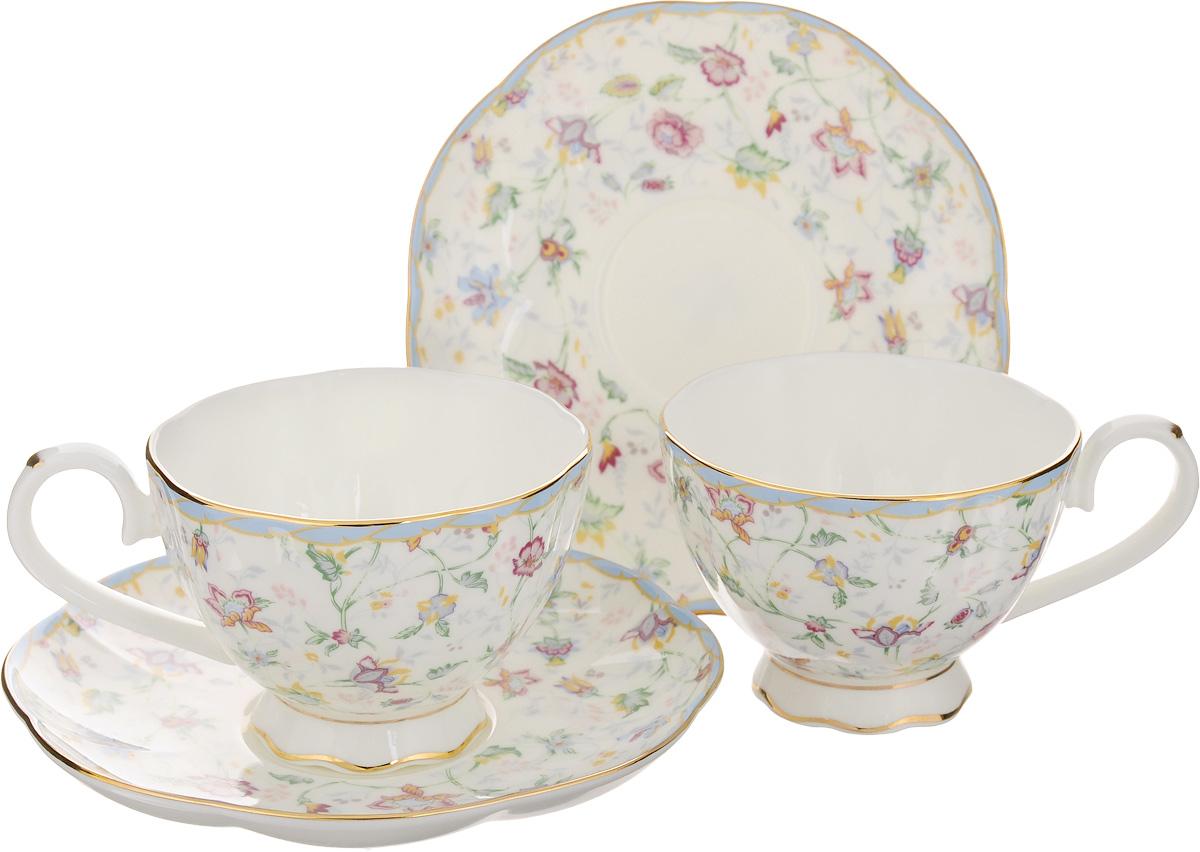 Набор чайный Elan Gallery Цветочный каприз, 4 предметаVT-1520(SR)Чайный набор Elan Gallery Цветочный каприз состоит из 2 чашек и 2 блюдец. Изделия, выполненные извысококачественной керамики, имеют элегантныйдизайн и классическую круглую форму.Такой набор прекрасно подойдет как для повседневного использования, так и для праздников. Чайный набор Elan Gallery Цветочный каприз - это не только яркий и полезный подарок для родных иблизких, а также великолепное дизайнерское решение для вашей кухни или столовой. Не использовать в микроволновой печи.Объем чашки: 250 мл. Диаметр чашки (по верхнему краю): 10 см. Высота чашки: 6,5 см.Диаметр блюдца (по верхнему краю): 16 см.Высота блюдца: 2 см.