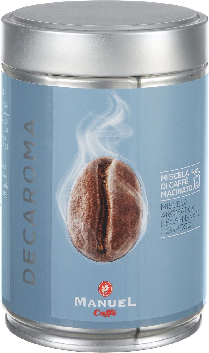 Manuel Decaroma кофе молотый, 250 г (ж/б)УПП00000096Великолепный кофе с низким содержанием кофеина Manuel Decaroma.